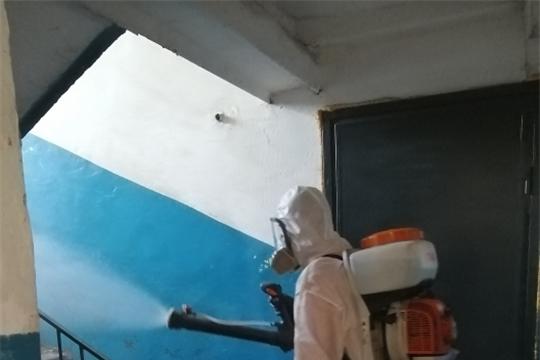 В жилых микрорайонах Канашского района ежедневно проводятся санитарно-дезинфекционные работы