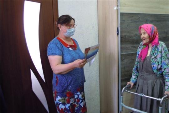 Жительницу с.Шибылги, труженицу тыла О.Ф.Рублеву поздравили с 90-летним юбилеем