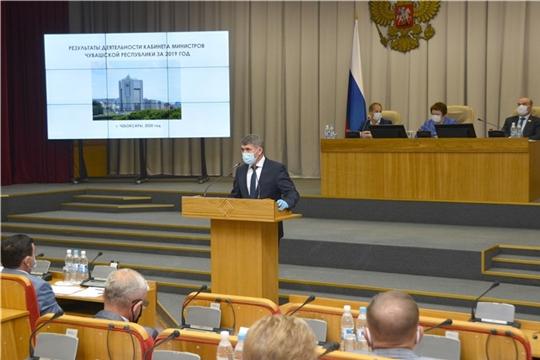 Олег Николаев выступил с отчетом в Госсовете Чувашии