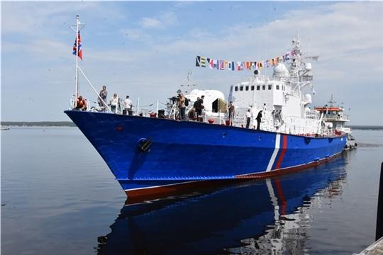 Сторожевой корабль «Чебоксары» прибыл в Чувашию