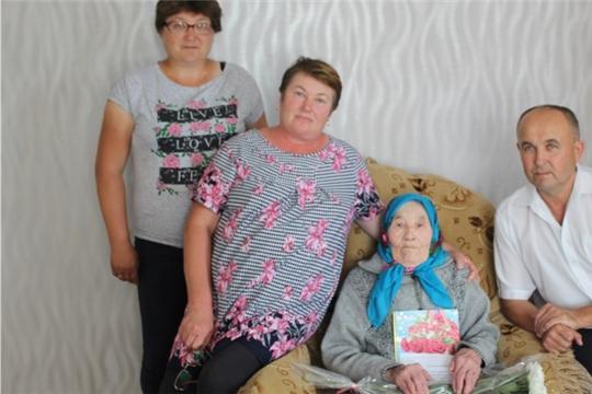 95 лет Матвеевой Елене Васильевне