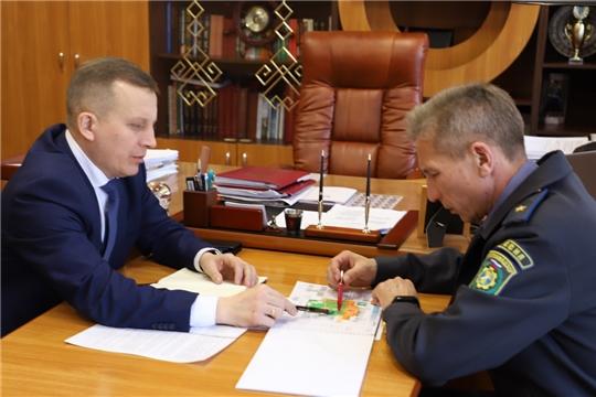 Рабочий визит начальника инспекции Гостехнадзора В.П. Димитриева в Комсомольский район