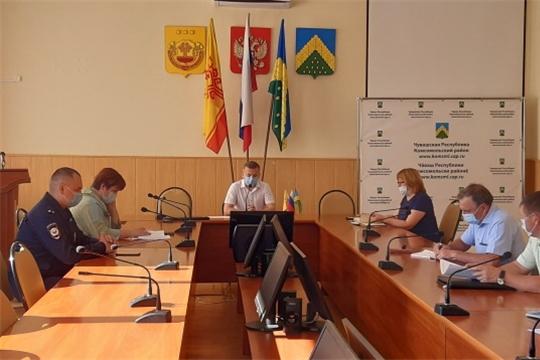 Еженедельная планерка главы администрации Комсомольского района Александра Осипова