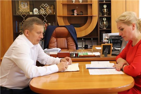 Руководитель Госслужбы Чувашии по конкурентной политике и тарифам Надежда Колебанова с рабочим визитом в Комсомольском районе