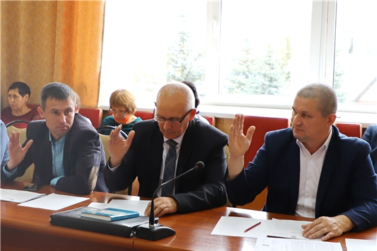 Заседание Собрания депутатов Комсомольского района Чувашской Республики седьмого созыва