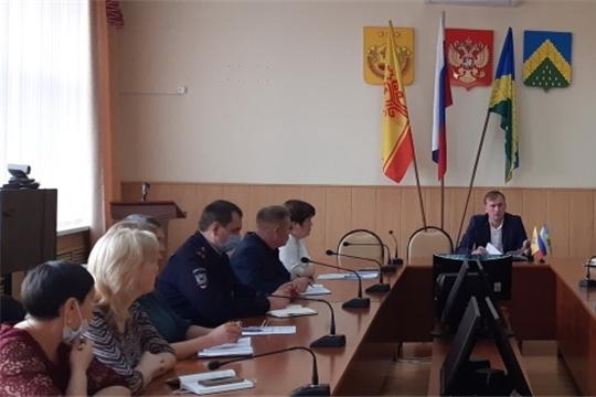 Еженедельное совещание в администрации Комсомольского района