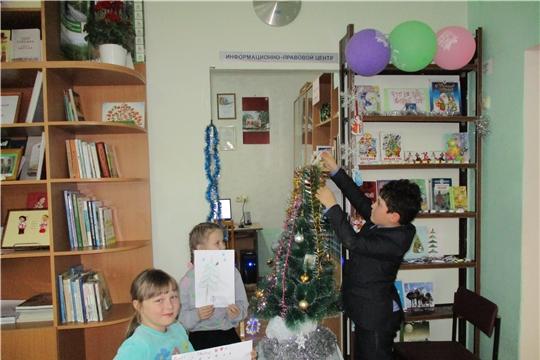 Новогодние мероприятия для детей в Тюрлеминской сельской библиотеке