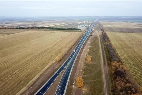 В Чувашии открыли движение по капитально отремонтированным 17-ти км трассы М-7 «Волга»