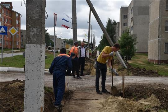 Глава администрации района А.Н. Кузнецов проверил ход работ по благоустройству и подготовке к уборке урожая