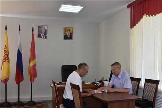 Красноармейский район с рабочим визитом посетил председатель ГКЧС Чувашии В.И. Петров