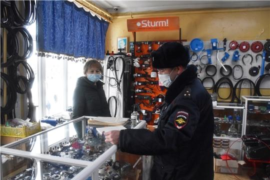 В Красноармейском районе продолжаются проверки на соблюдение масочного режима