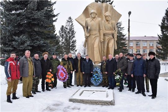 В Красночетайском районе отдали дань памяти воинам-интернационалистам
