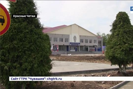 В Красных Четаях реконструировали площадь Победы за 25 млн. рублей