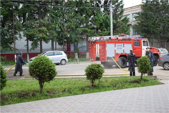 В Красночетайском районе проводят дезинфекцию улиц