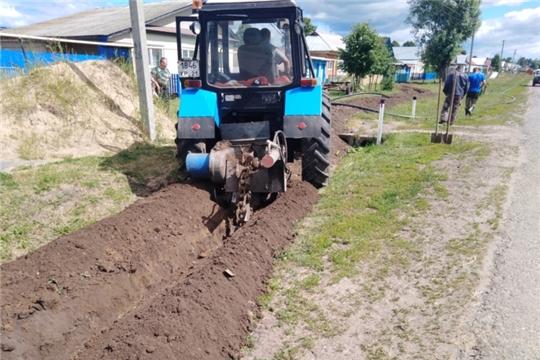В Питеркинском сельском поселении начались ремонтные работы водопроводных сетей