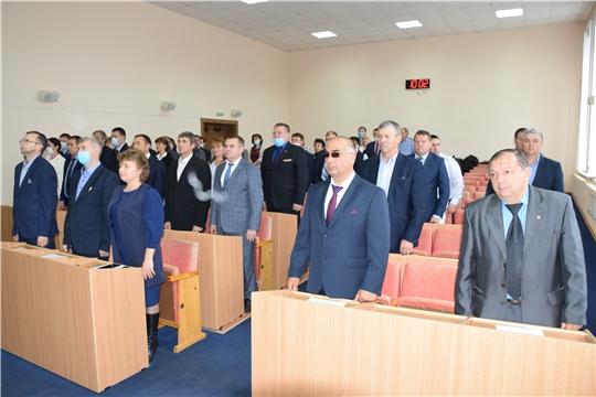 Состоялось первое заседание Собрания депутатов Красночетайского района VII созыва.