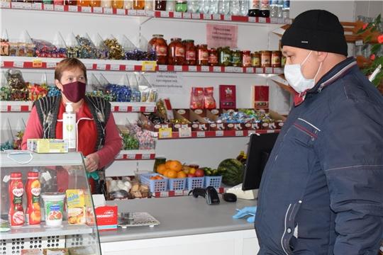 В Красночетайском районе усилен контроль за соблюдением масочного режима в общественных местах