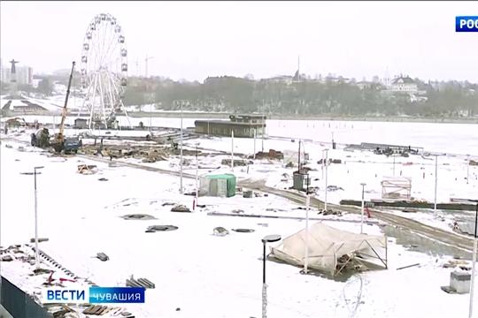 Мягкая зима помогает выполнять реконструкцию Красной площади в отведенные сроки