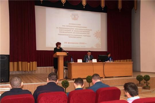 В Ленинском районе состоялось заседание комиссии по предупреждению и ликвидации чрезвычайных ситуаций и обеспечению пожарной безопасности