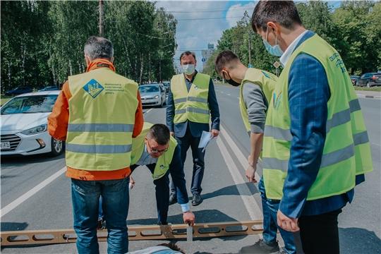В Чебоксарах проверили семь гарантийных дорожных объектов