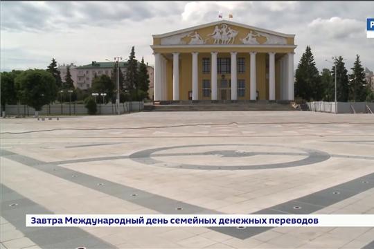 Красную площадь в Чебоксарах откроют ко Дню Республики