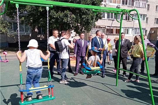 В Ленинском районе состоялась приемка первой комплексной площадки