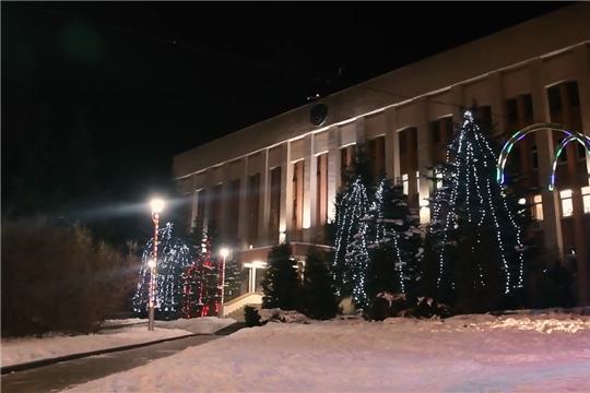 Новогоднее оформление Ленинского района г.Чебоксары