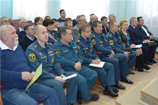 Подведены итоги деятельности системы гражданской обороны Мариинско-Посадского района за 2019 год
