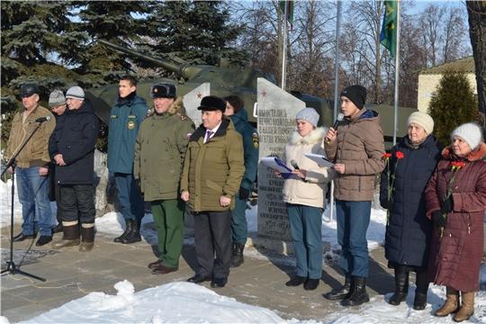 В Мариинско-Посадском районе почтили память воинов-интернационалистов