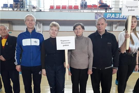 Представители Мариинско- Посадского района приняли участие в спартакиаде пенсионеров «Спортивное долголетие»