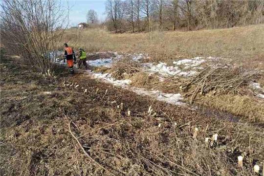 В Мариинско-Посадском районе проводятся работы по содержанию дорог