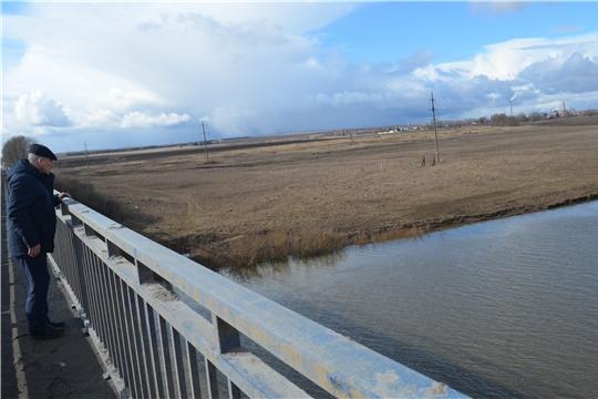 В Мариинско-Посадском районе проводится осмотр территорий, попадающих в зону возможного затопления