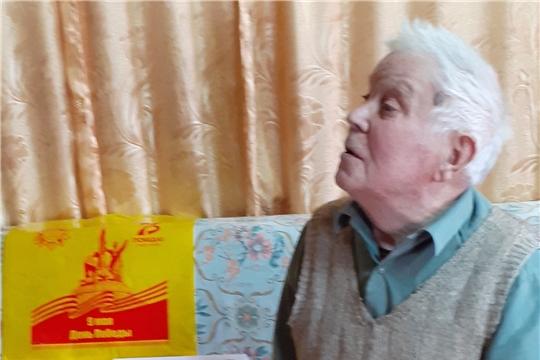 Поздравление с 75-летием Победы участника Великой Отечественной войны Михаила Александрова