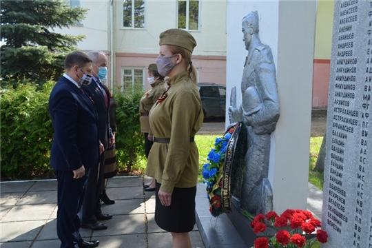 В Мариинско-Посадском районе состоялось возложение венков в честь 75-летия Победы в Великой Отечественной войне
