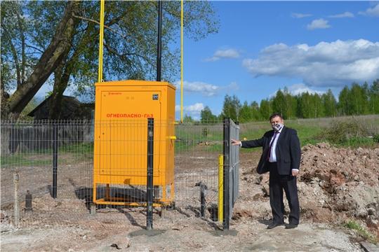Работы по газоснабжению жилых домов в деревне Пущино Мариинско-Посадского района