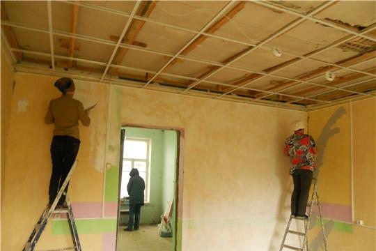 В четырех библиотеках Мариинско-Посадского района ведутся работы по укреплению материально-технической базы в рамках Указа Главы Чувашии