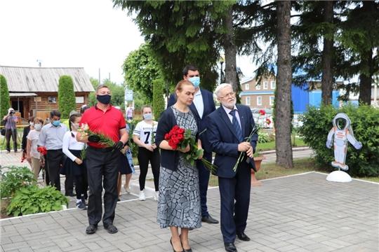 В Мариинско-Посадском районе почтили память летчика-космонавта Андрияна Григорьевича Николаева