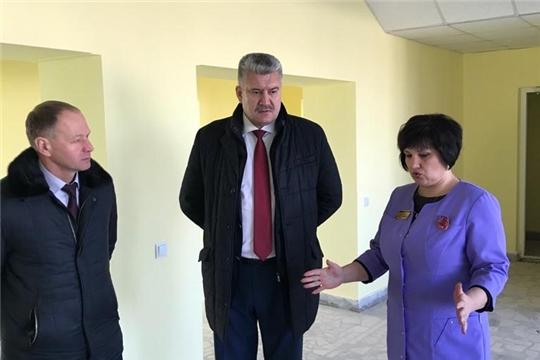 В детской и женской консультации Урмарской больницы идет ремонт