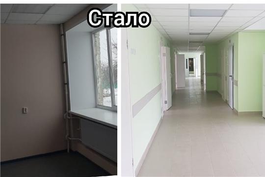 Нацпроект «Здравоохранение»: ремонт в Урмарском отделении туберкулезного диспансера близится к завершению