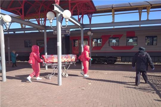О госпитализированном пассажире поезда