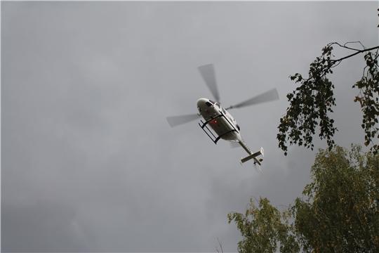Вертолет санавиации доставил первого пациента из района Чувашии