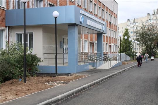 Обновленная прибольничная территория Больницы скорой медицинской помощи