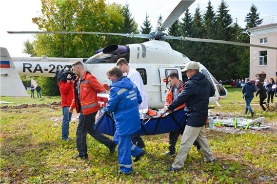 10-й вылет вертолета санитарной авиации