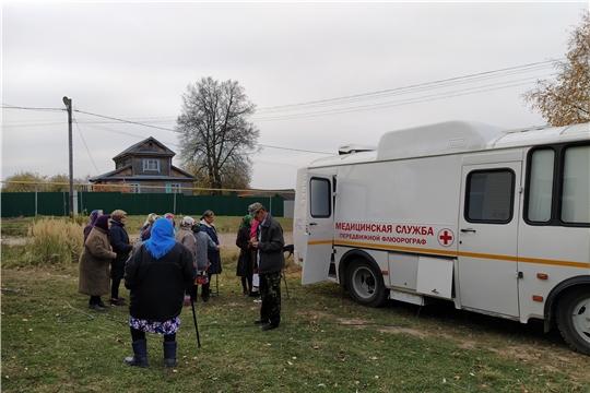 """Национальный проект """"Здравоохранение""""в действии: в Красночетайском районе работает передвижной медицинский комплекс - флюорограф"""