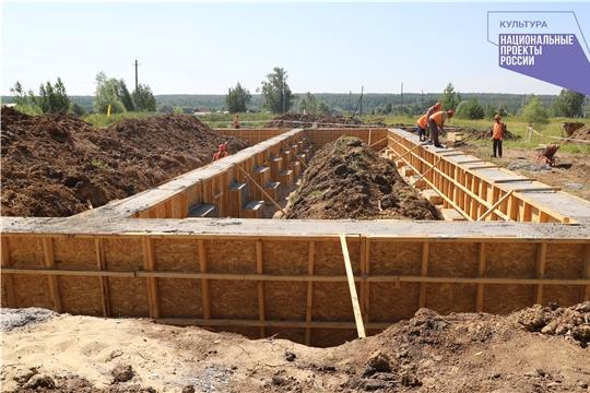 Новый Дом культуры строится в Вурнарском районе в рамках национального проекта «Культура»