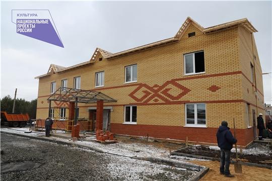 В рамках нацпроекта «Культура» продолжаются строительные работы сельского дома культуры в д. Хучель Канашского района