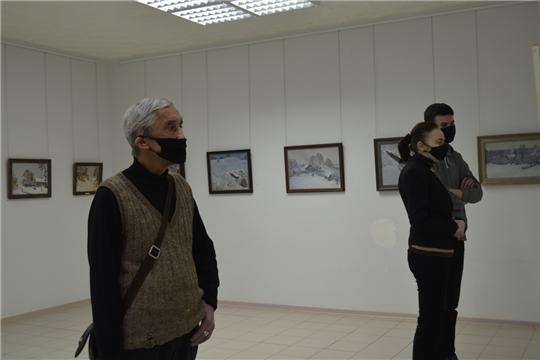 В Художественном музее работает выставка Геннадия Исаева «Зима в Чувашии»