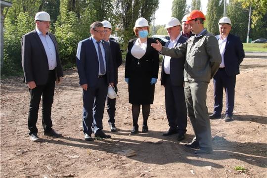Михаил Ноздряков ознакомился с ходом работ I этапа масштабного проекта по модернизации системы теплоснабжения Новочебоксарска