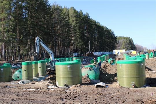 Коллектор хозяйственно-бытовой канализации в пгт Вурнары будет сдан в срок