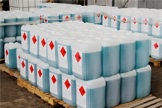 ПАО «Химпром» передало в больницы Чувашии более 14 тонн антисептика